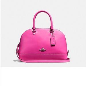 Coach Silver/Bright Fushia pink Crossbody